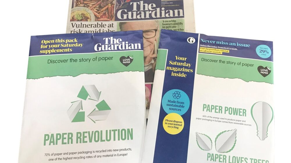 Love Paper in the news: The Guardian features Love Paper on their first paper wrap