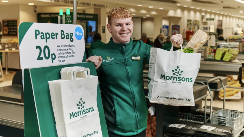 Morrisons Move to a More Sustainable Future with Paper Bags