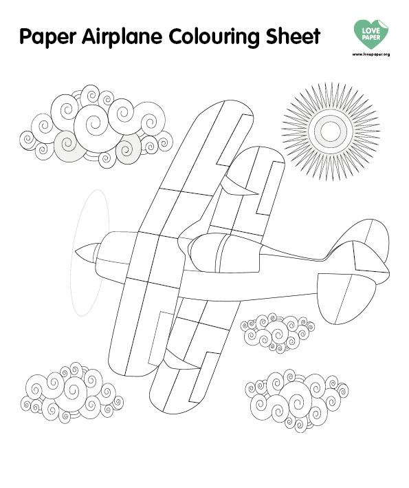 Paper Plane Couring Sheet (2)