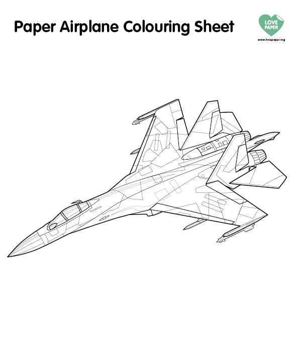 Paper Plane Couring Sheet (3)