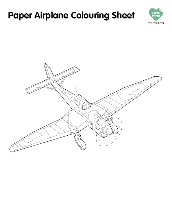 Paper Plane Couring Sheet (4)