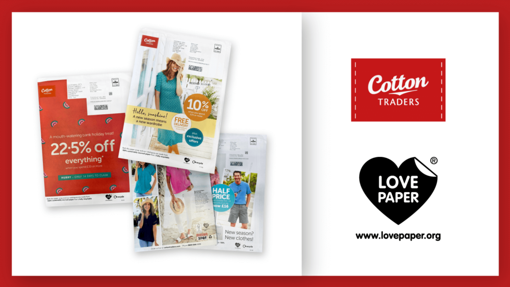 Cotton Traders Promotes Sustainable Print Media With Love Paper